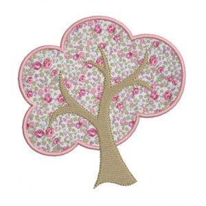 motif broderie machine arbre appliqué