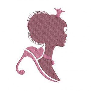 motif de broderie machine silhouette princesse
