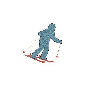skieur descente